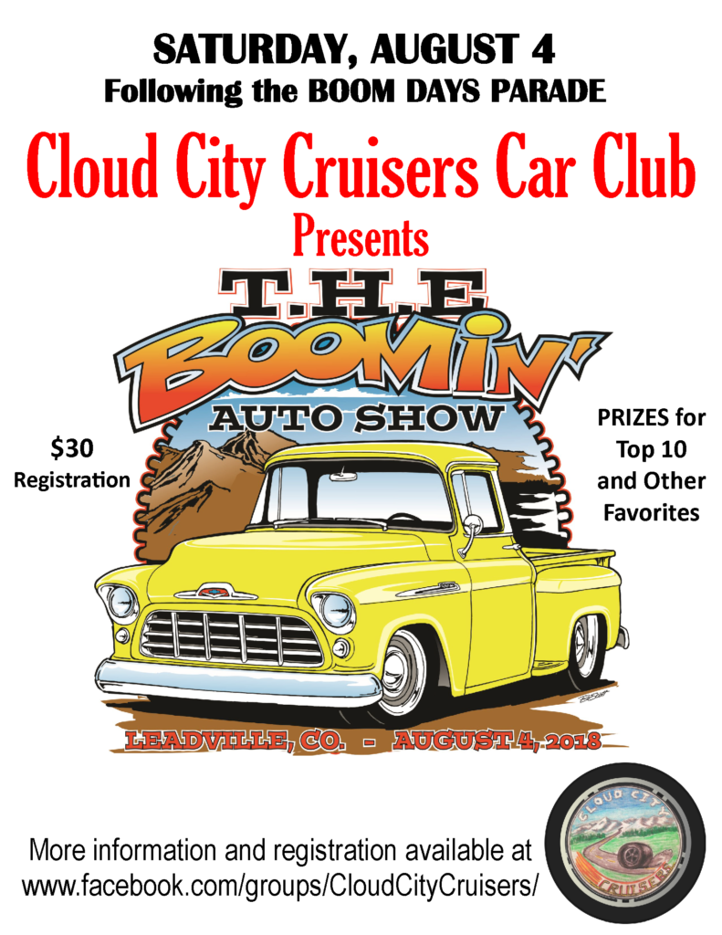 Car Show Leadville Boom Days - New car shows 2018